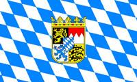 Landesfahne Bundesland - Bayern