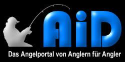 Logo AiD Angelportal - Hintergrund schwarz - 250 x 125