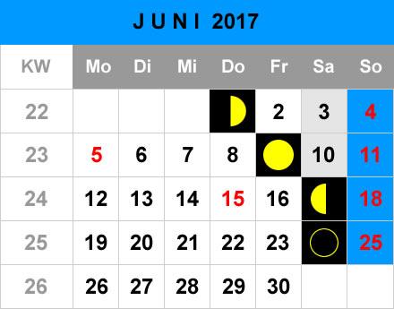 mondphasen kalender 2017 monat juni aid angelportal angeln in deutschland aid angelportal. Black Bedroom Furniture Sets. Home Design Ideas