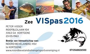 Zee VISpas - Sportvisserij Nederland - Meeres Fischpass Sportfischerei in den Niederlanden