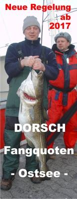 Neuregelung 2017 - Dorschfangquoten Ostsee