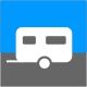 Icon Piktogramm - Caravaning - Stellplätze Wohnwagen Wohnmobile