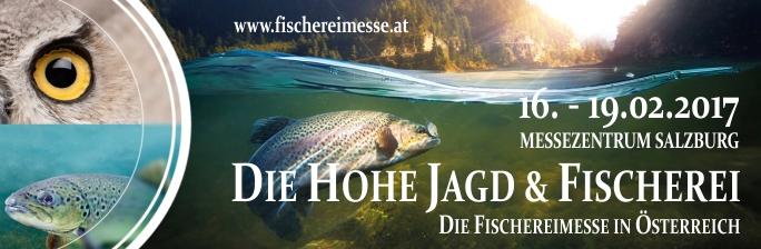 Die hohe Jagd und Fischerei - Fischereimesse in Österreich - Salzburg - Standard Anzeige - Angelmessen in Europa - Banner