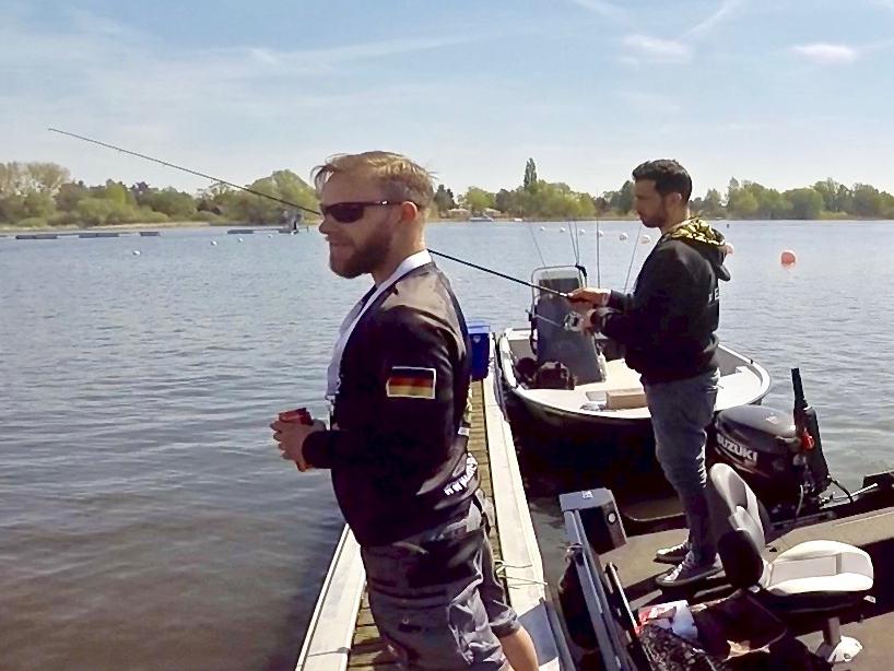 Angelprofis beim Jiggen - Fishing Masters Show 2018 - Beetzsee - Brandenburg an der Havel - Deutschland
