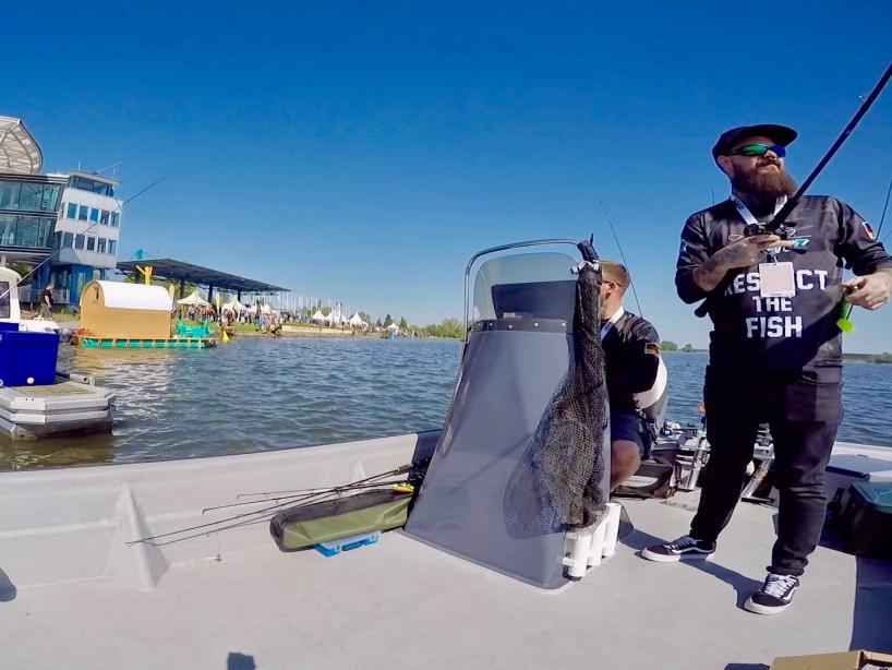 Ausfahrt mit dem Angelboot - Fishing Masters Show 2018 - Beetzsee - Brandenburg an der Havel - Deutschland