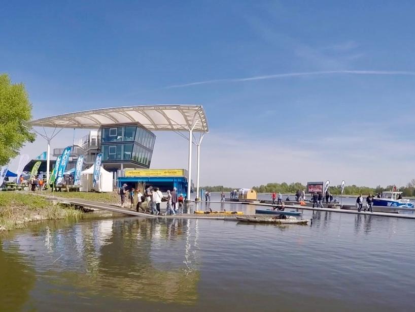 Gebäude und Bootsanleger - Fishing Masters Show 2018 - Beetzsee - Brandenburg an der Havel - Deutschland