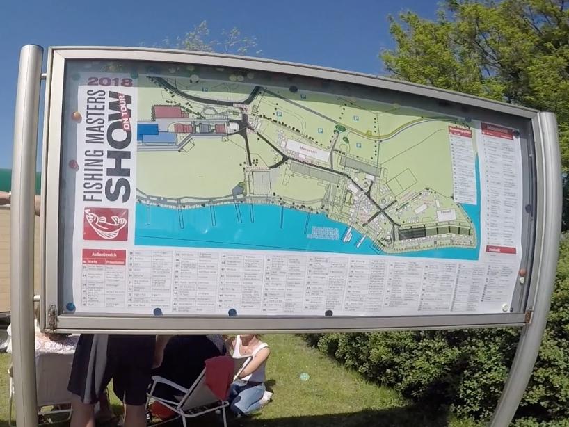 Lageplan Wegweiser - Fishing Masters Show 2018 - Beetzsee - Brandenburg an der Havel - Deutschland