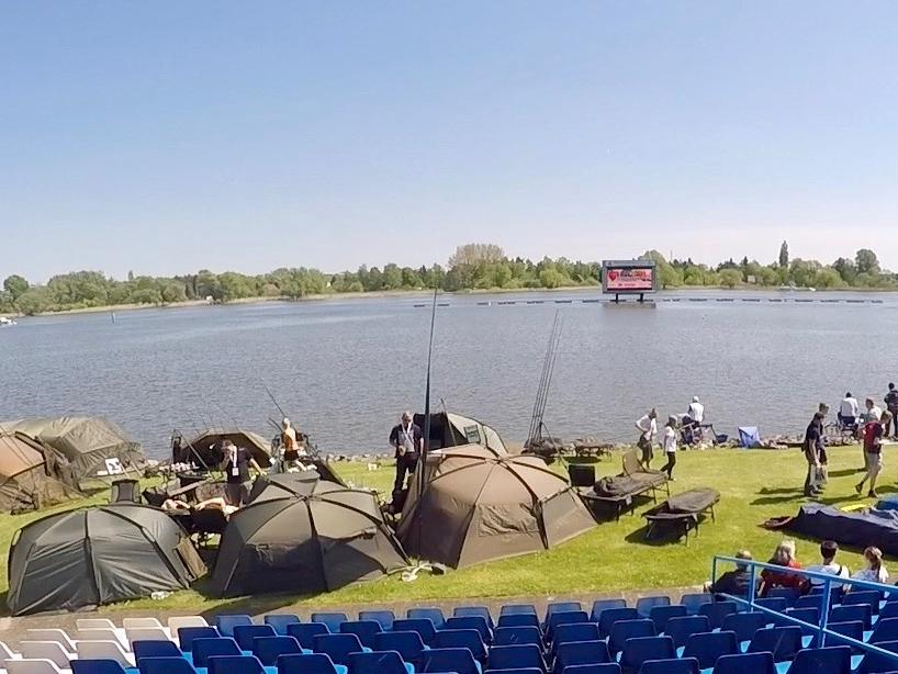 Tribüne links - Fishing Masters Show 2018 - Beetzsee - Brandenburg an der Havel - Deutschland
