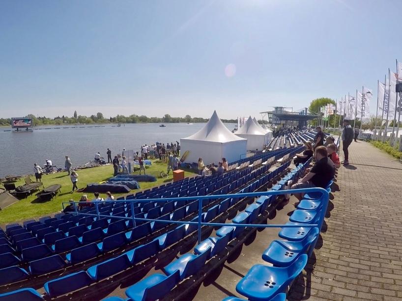 Tribüne oben - Fishing Masters Show 2018 - Beetzsee - Brandenburg an der Havel - Deutschland