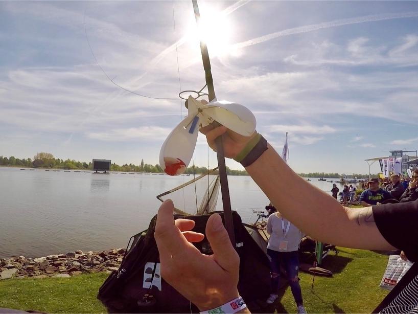 Anwendung Futterrakete Foto 3 - Fishing Masters Show 2018 - Beetzsee - Brandenburg an der Havel - Deutschland