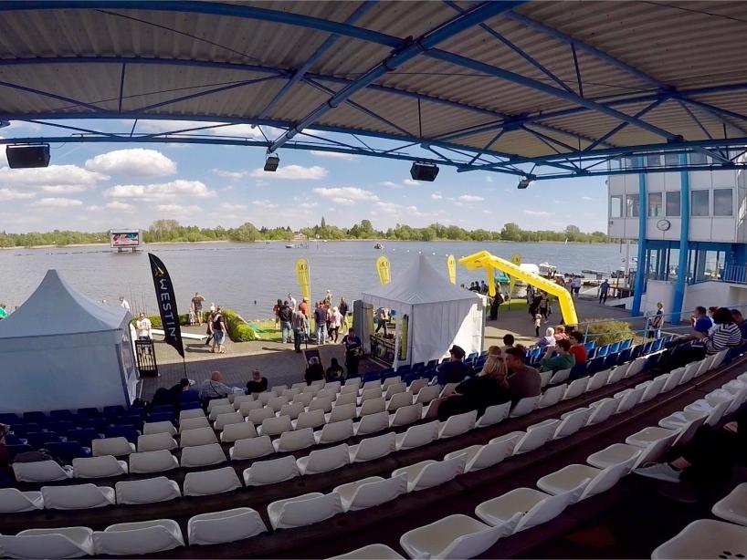 Tribüne rechts - Fishing Masters Show 2018 - Beetzsee - Brandenburg an der Havel - Deutschland