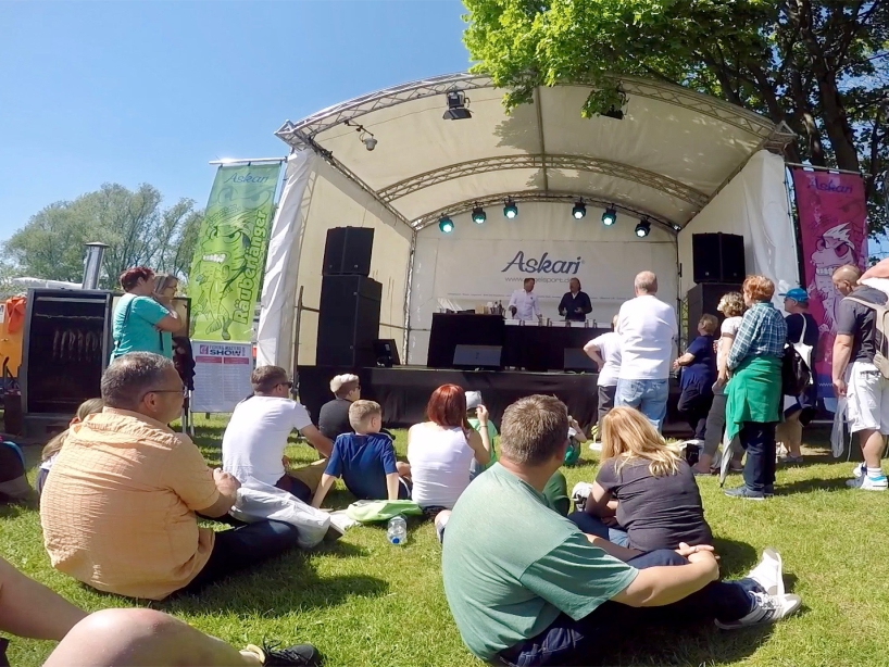 Showtribüne - Fishing Masters Show 2018 - Beetzsee - Brandenburg an der Havel - Deutschland