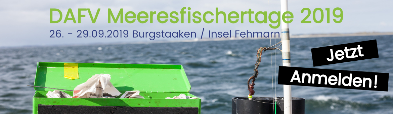 Banner DAFV Meeresfischertage 2019 - Burgstaaken / Insel Fehmarn