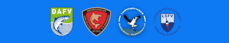 Logos - DAFV - Deutscher Meeresangler Verband - Landesanglerverband Mecklenburg-Vorpommern - Landessportfischerverband Schleswig-Holstein
